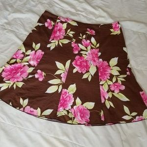 PIACE-A-line flare skirt with floral print